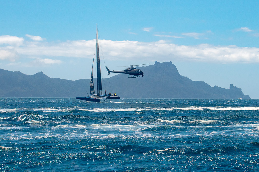 Sail GP Helicopter Foiling F50 Super boats F50