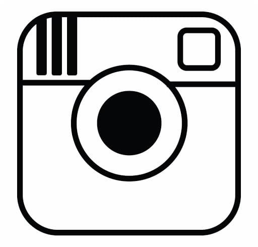 Instagram Image Logo B&W