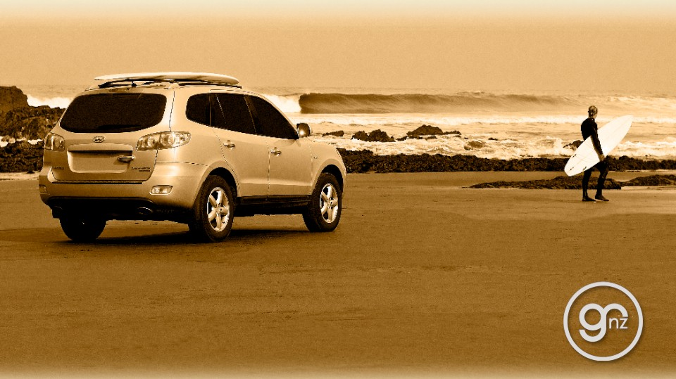 Hyundai Santa Fe on the beach